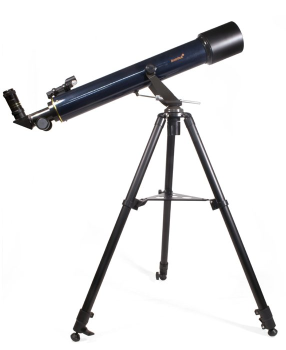 Achromatic refractor. Objective lens diameter: 80 mm. Focal length: 720 mm