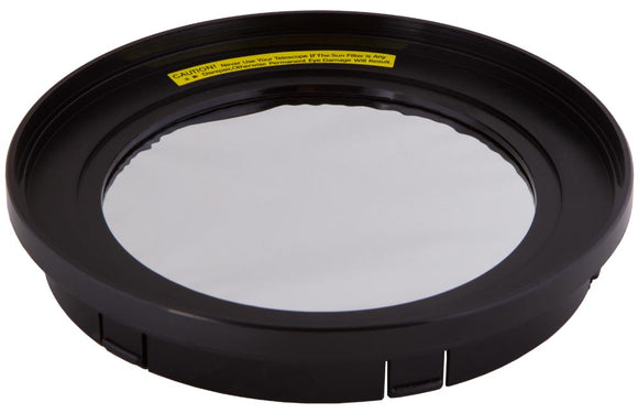 Full aperture solar filter for safe observations of the Sun: 115/146/152 mm