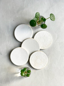Hand-Made Ceramic Drink Coasters