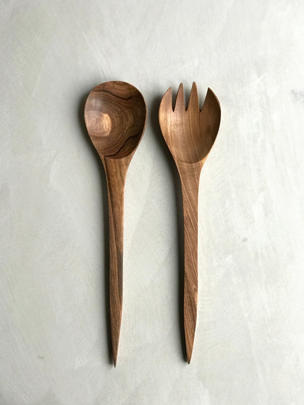 Wooden Salad Spoon & Fork Set