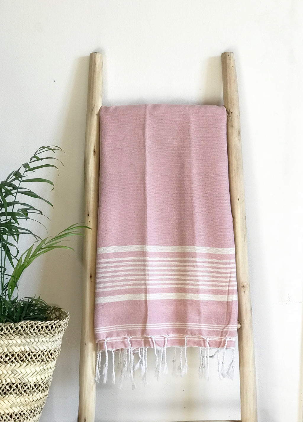 Hammam Towel - PINK w/ White Stripes