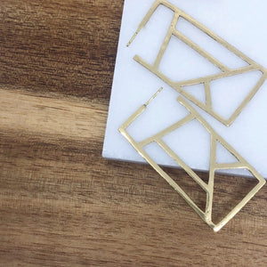 Ink + Alloy Geometric Hoop