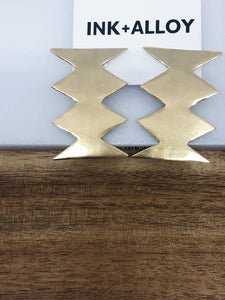 Ink + Alloy Statement Brass ZigZag