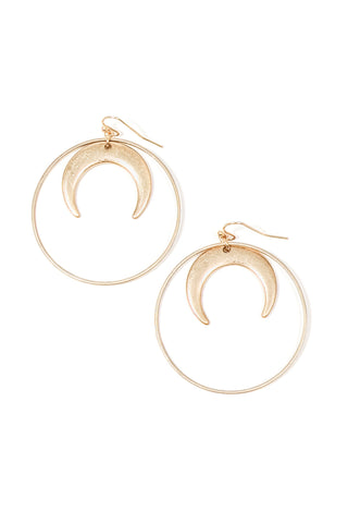 Emmie Crescent Earring