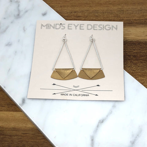 Mind's Eye Design - Mixed Metal Envelope Earring