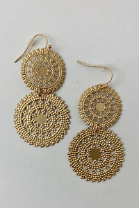 Georgene Dotted Disc Earring
