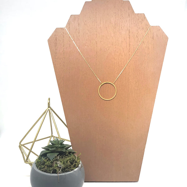 Blaire Matte Metal Circle Necklace