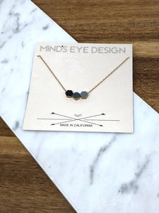 Mind's Eye Design - Hexagon Color Story Neckalce Greys