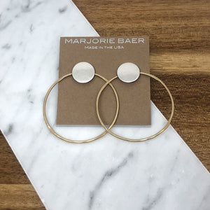Marjorie Baer- Mixed Metal Post Hoop