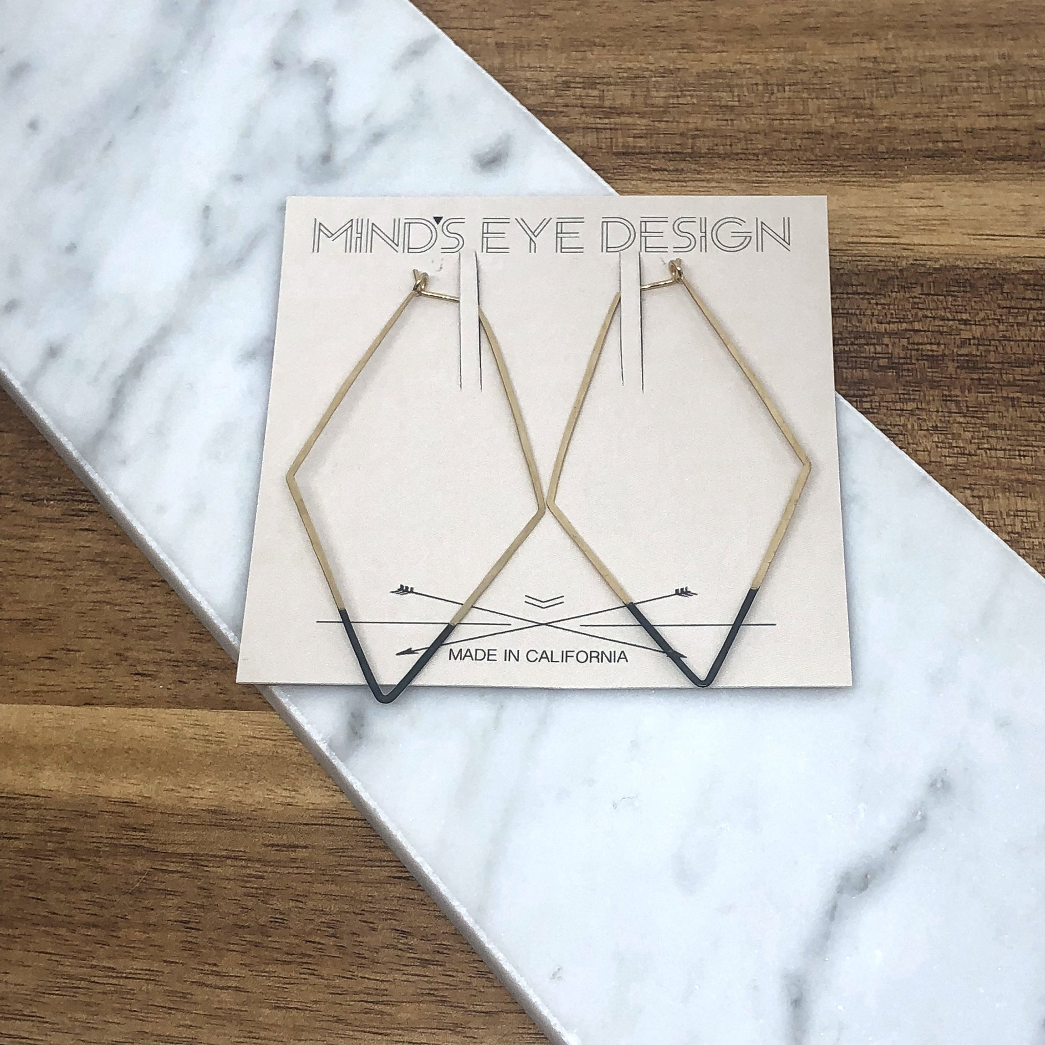Mind's Eye Design - Mired Metal Earring - Rhombus