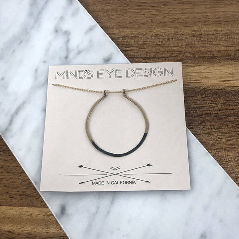 Mind's Eye Design - Mired Metal Necklace - Circle