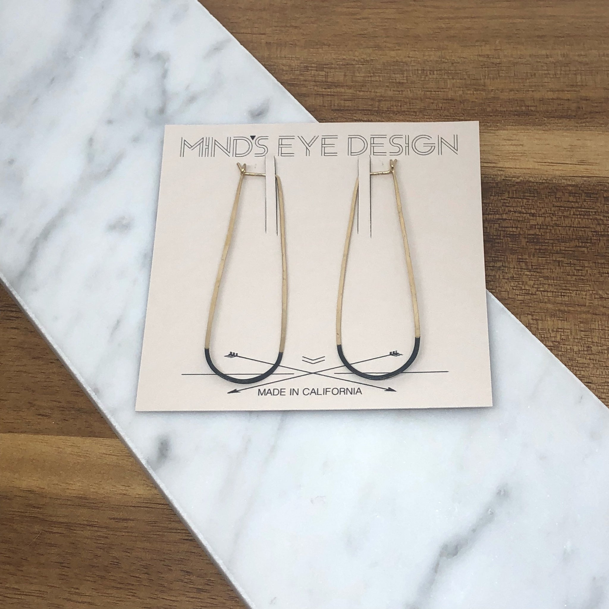 Mind's Eye Design - Mired Metal Earrings - Long Elipse