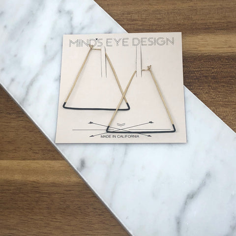 Mind's Eye Design - Mired Metal Earring- Triangle