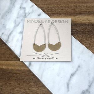 Mind's Eye Design - Mixed Metal Tulip Earrings