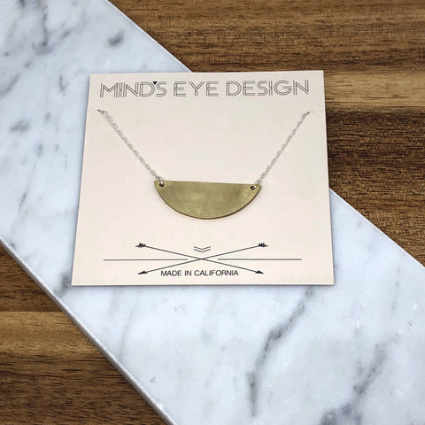 Mind's Eye Design - Mixed Metal Semicircle Necklace