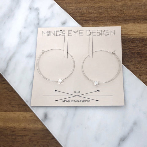 Mind's Eye Design - Tiny Star Hoops - Silver