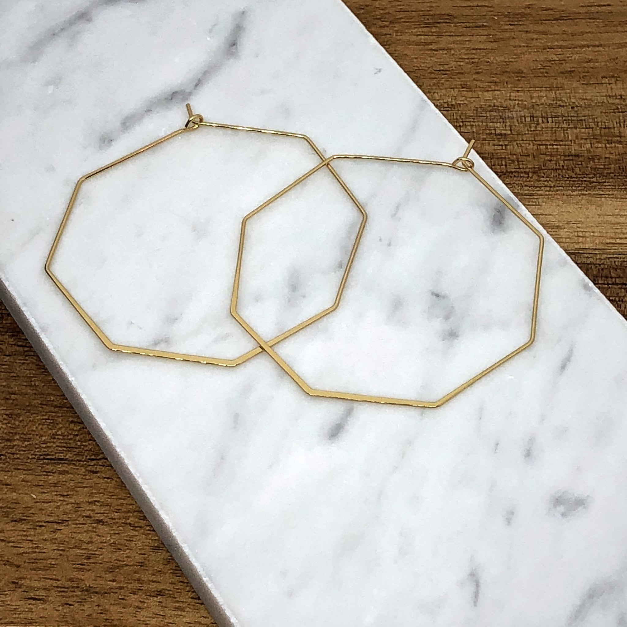 Alessia Thin Geometric Hoop Earring