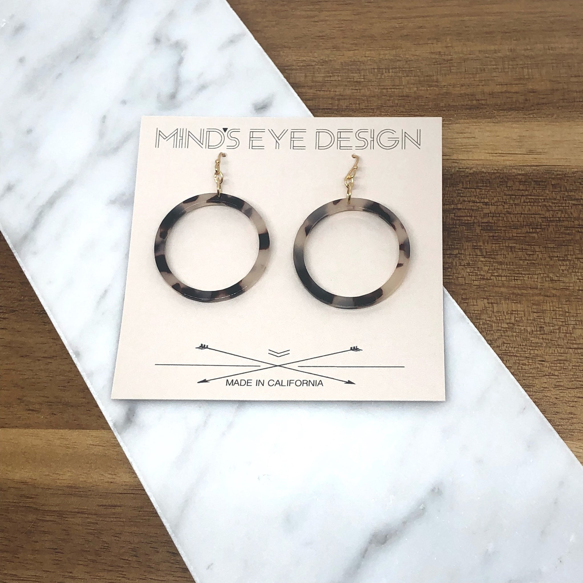 Mind's Eye Design - Tortoise Shell Circle Earring