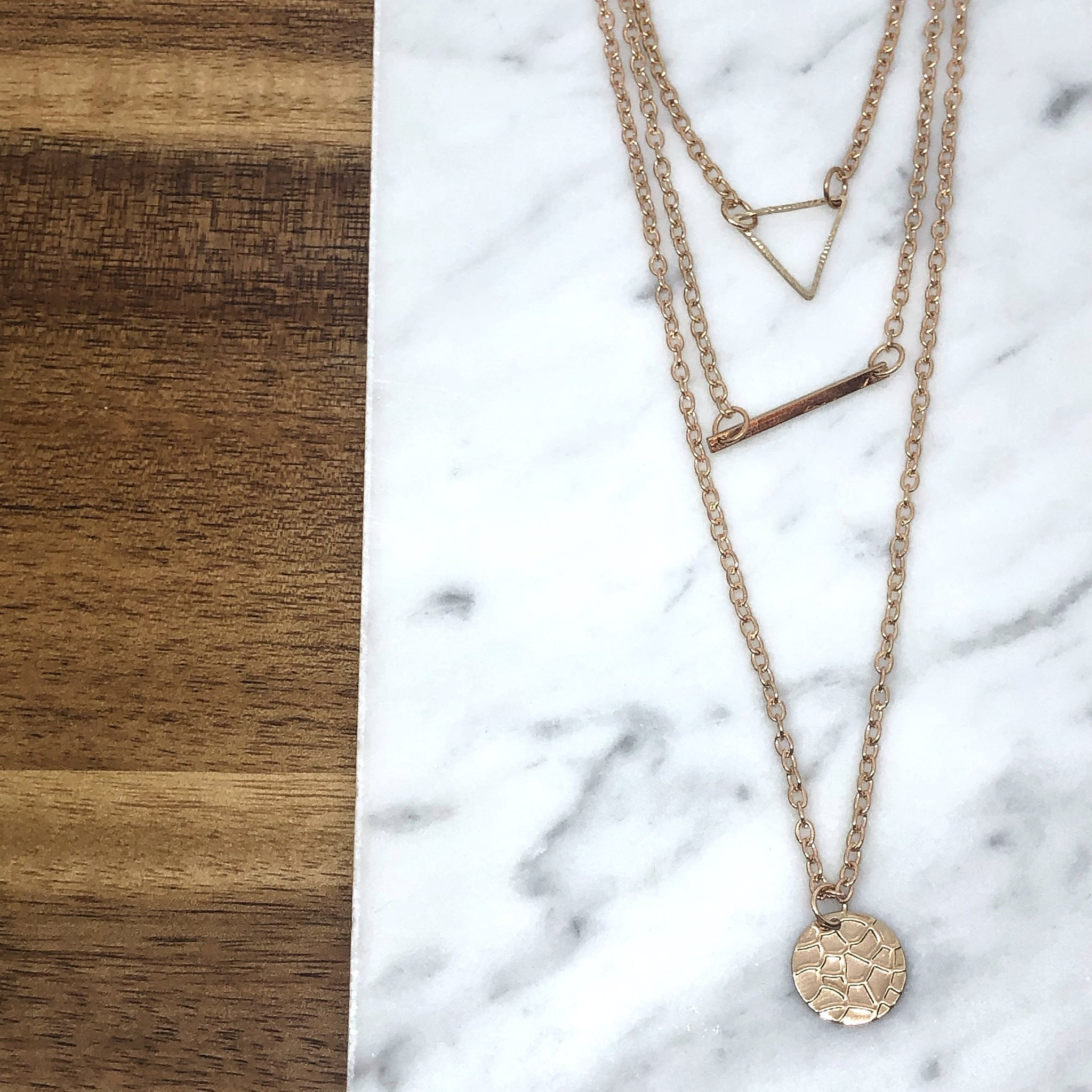 Markey Triple Layer Necklace