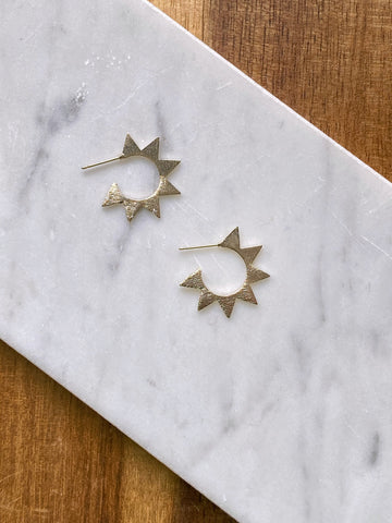 Analisa Geometric Gold Earring