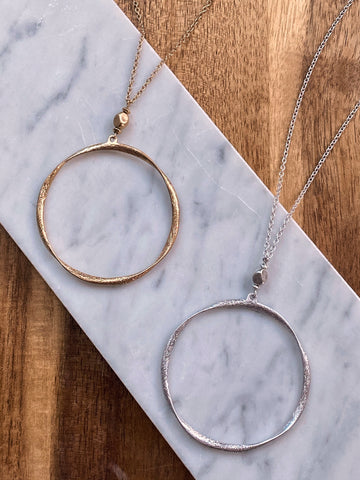Cathi Long Circle Necklace