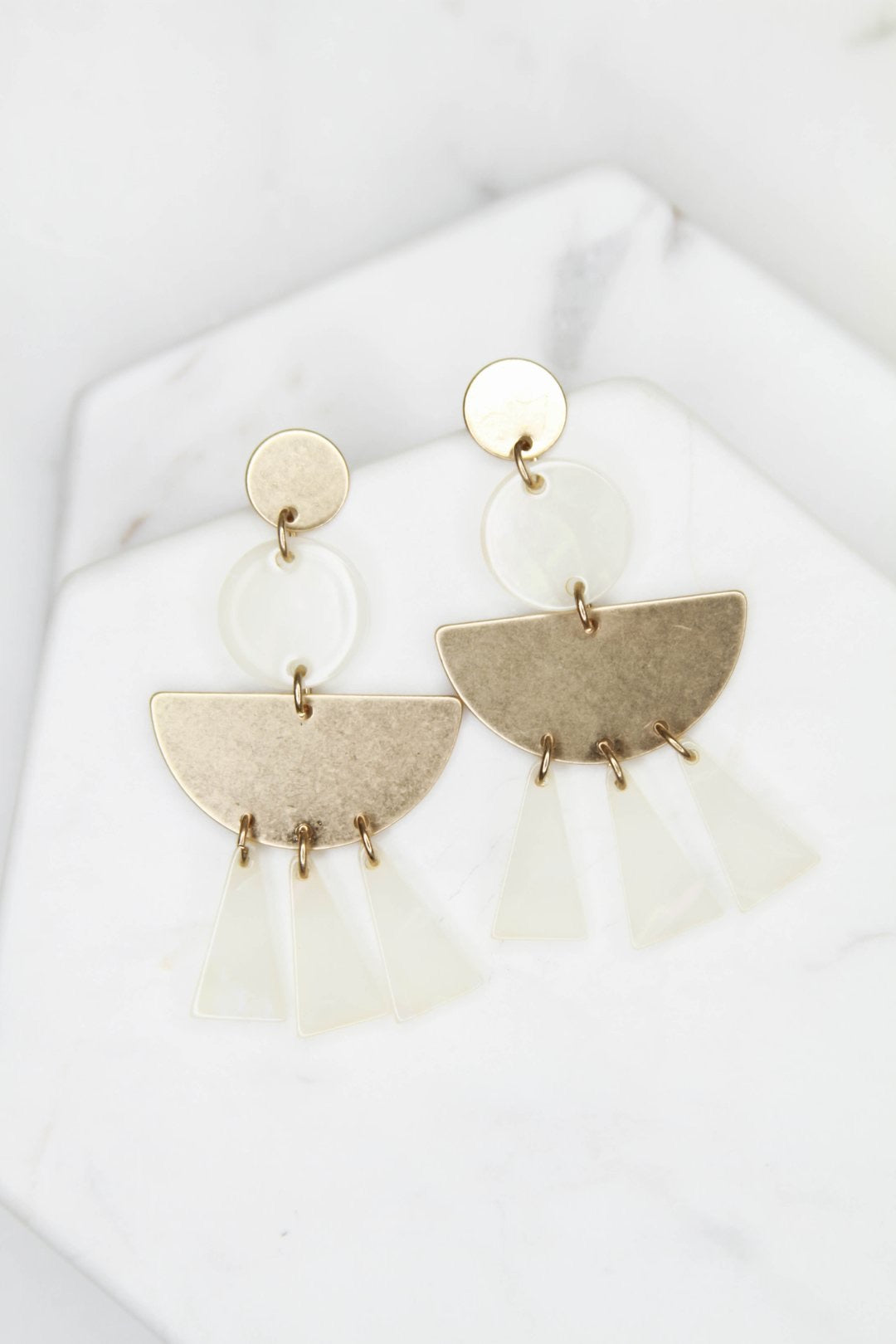 Andrea Geometric Acrylic Earrings