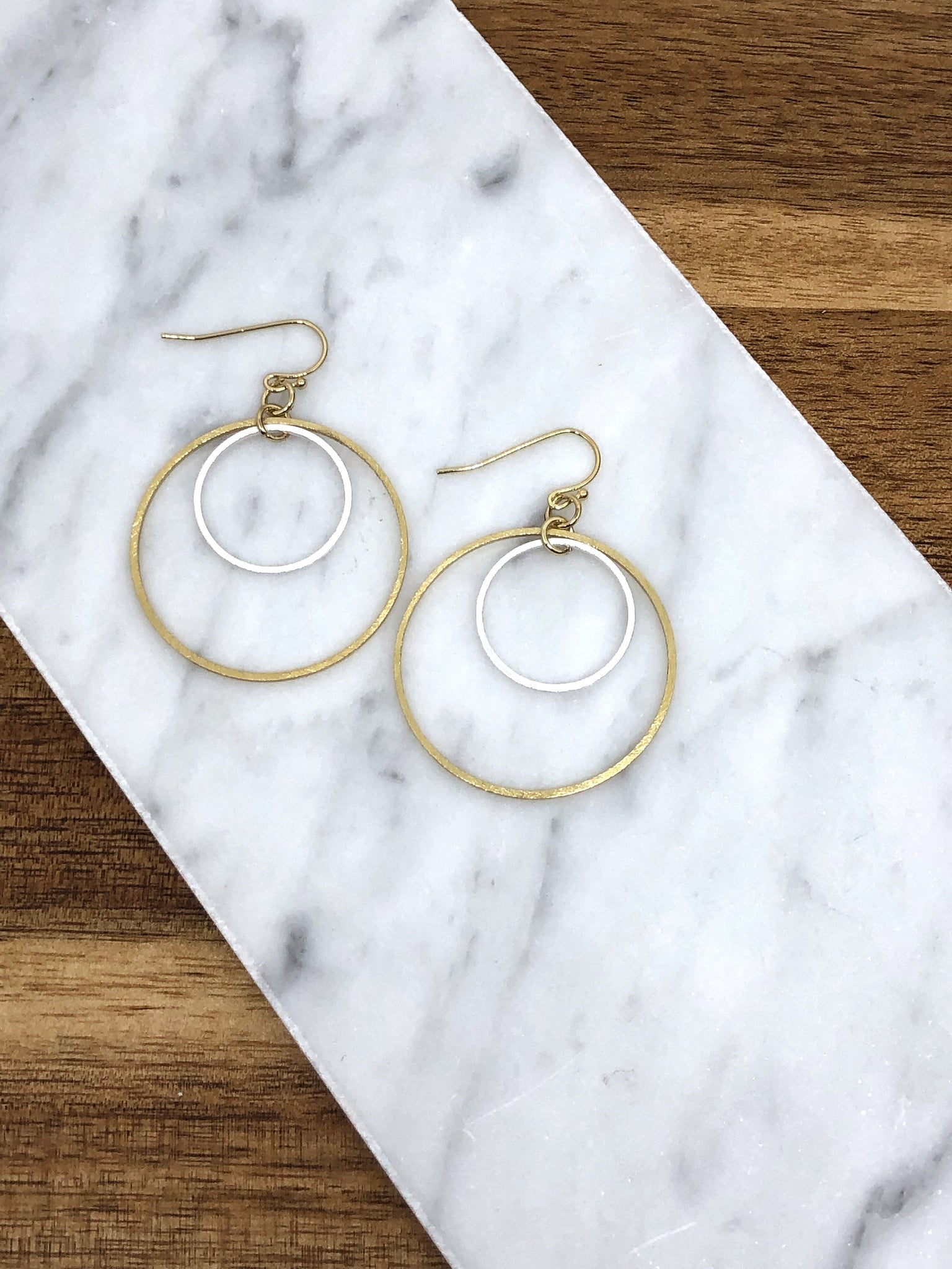 Felicia Double Circle  Earring