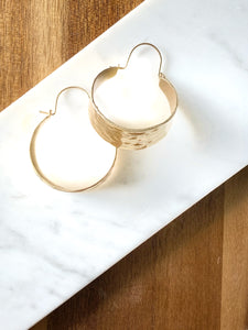 Hallie Gold Hoop Earring