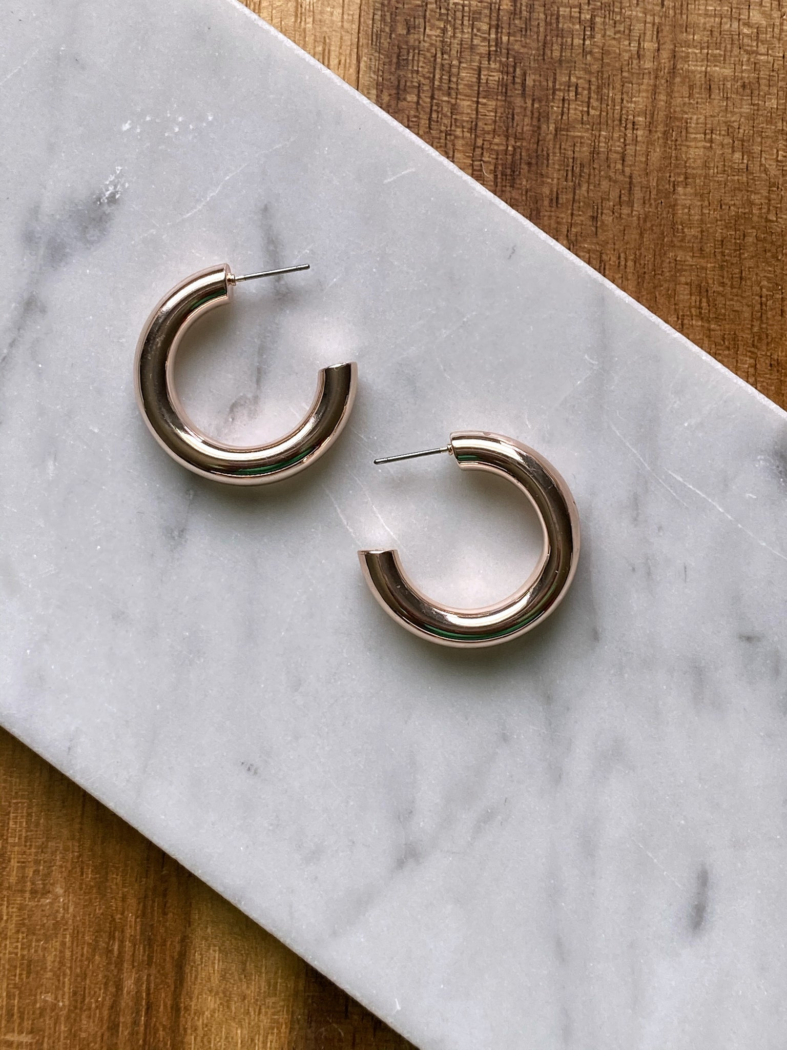 Litta Rose Gold Tube Hoop