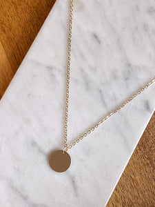 Katya Simple Coin Necklace