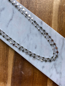 Stacia Silver Star Layered Necklace