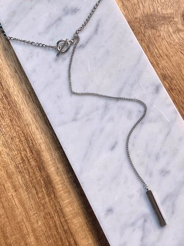 Danni Chain & Bar Lariat Necklace
