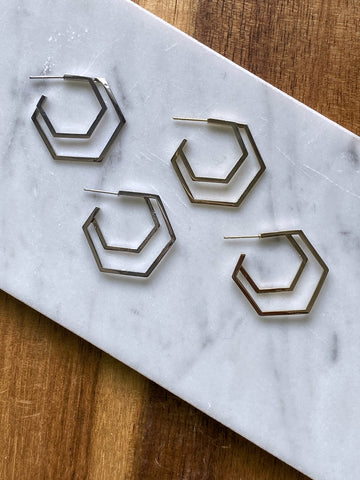 Carrie Geometric Hoop Earring