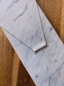 Emilia Silver Bar Necklace