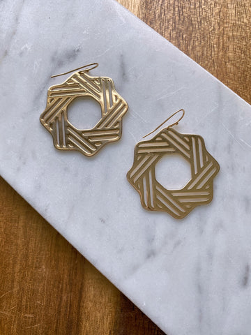 Michelle Geometric Gold Earring