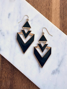 Aimee Black Geometric Earrings