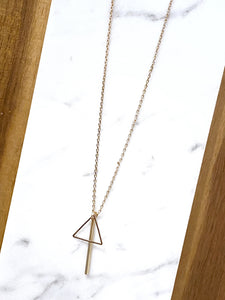 Heddy Triangle & Bar Necklace