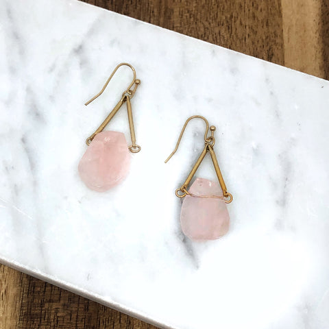 Rosa Rose Quartz Dangle