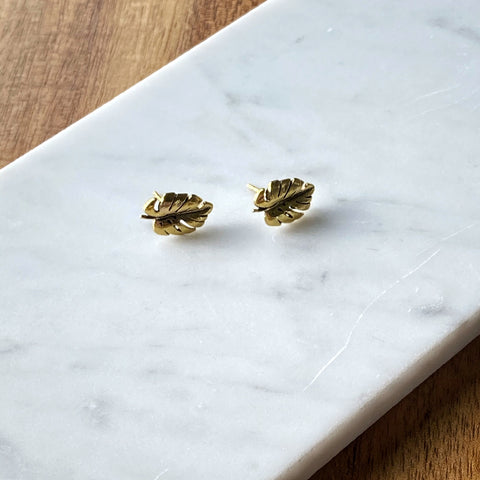 Montra Monstera Stud Earring