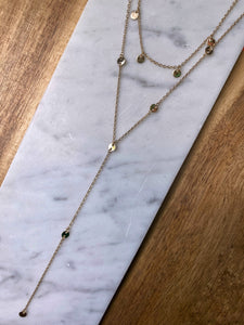 Corra Layered Lariat Necklace