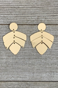 Marsha Gold Palm Earring