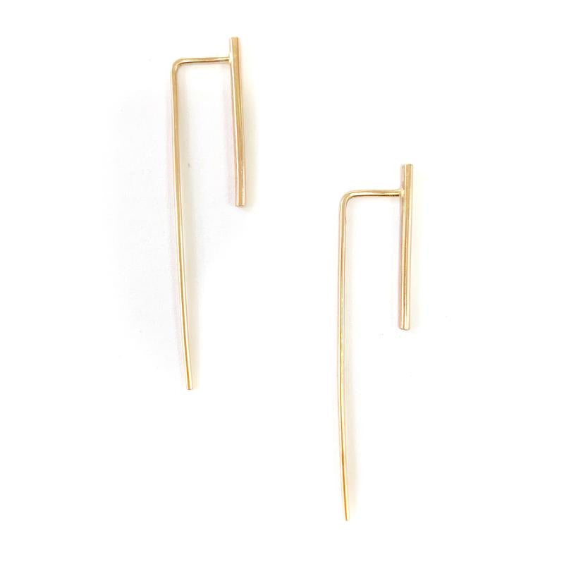 Adorn512 Long Bar Earrings