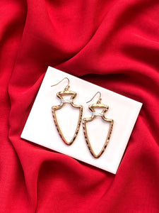 Clark Mixed Metal Arrowhead Gameday Earring