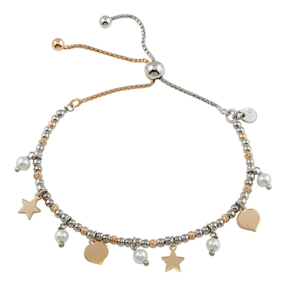 Stars Leaves Beaded Lariat Bracelet