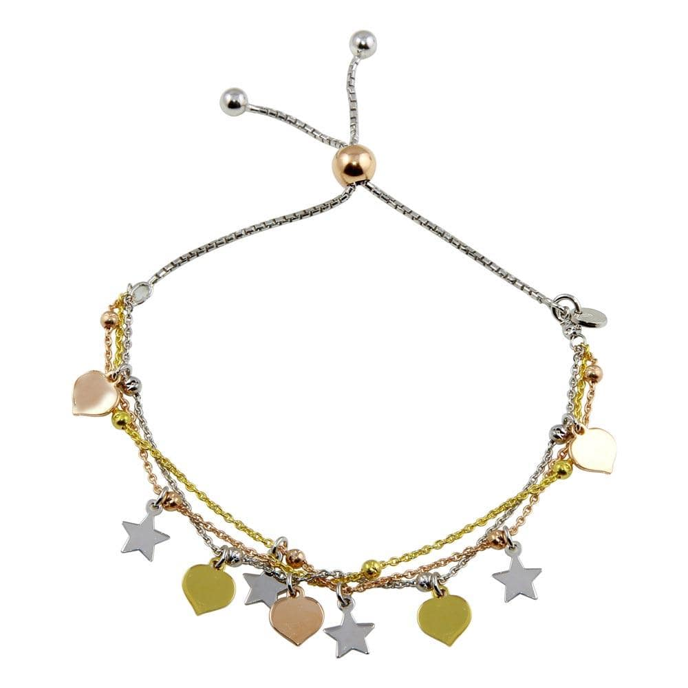 Stars With Leaves Lariat Bracelets