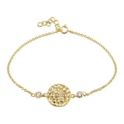 Circle With Cross Chain Bracelet