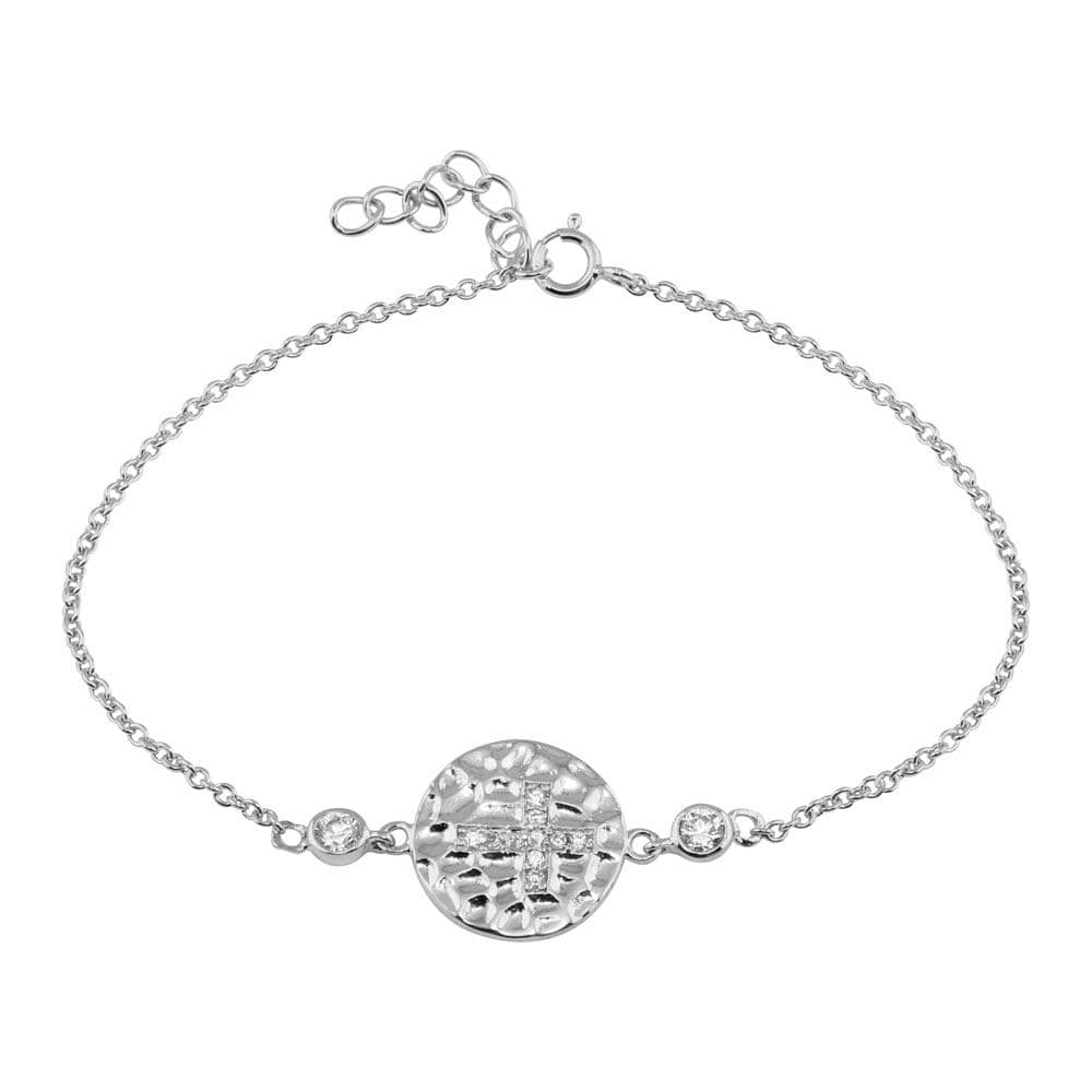 Circle With Cross Adjustable Bracelet