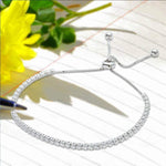 All Bracelet Diamond Tennis Lariat Bracelet