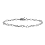 Heart and Circles Diamond Accented Bracelet