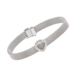 All Bracelet Heart Diamond Mesh Bracelet